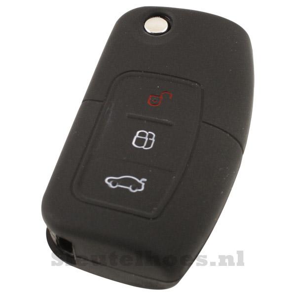 Ford 3-knops klapsleutel sleutelcover – zwart (model 2)-
