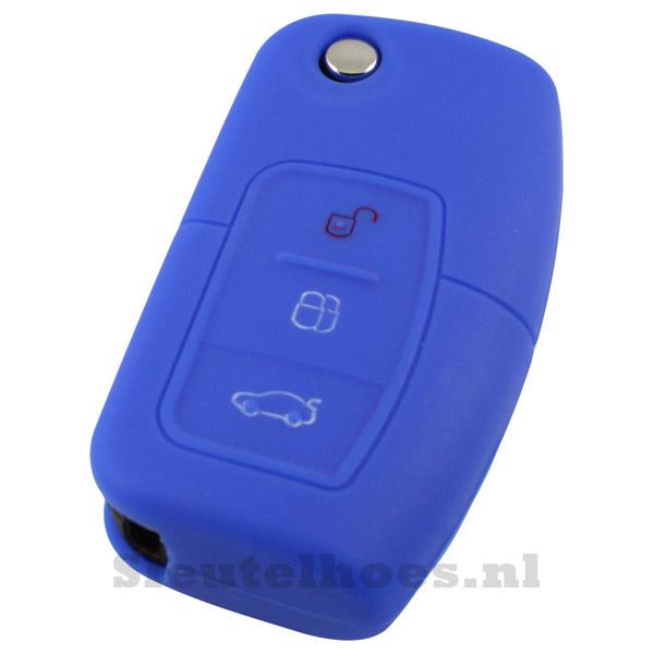 Ford 3 knops sleutelbehuizing blauw