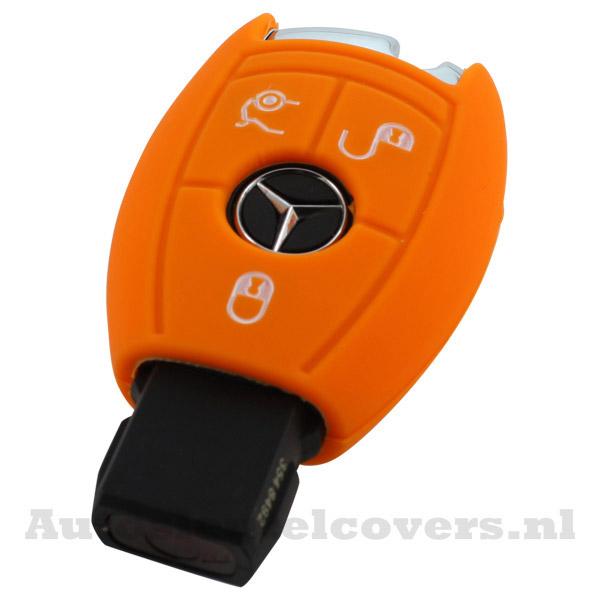 Mercedes 3-knops smart key oranje
