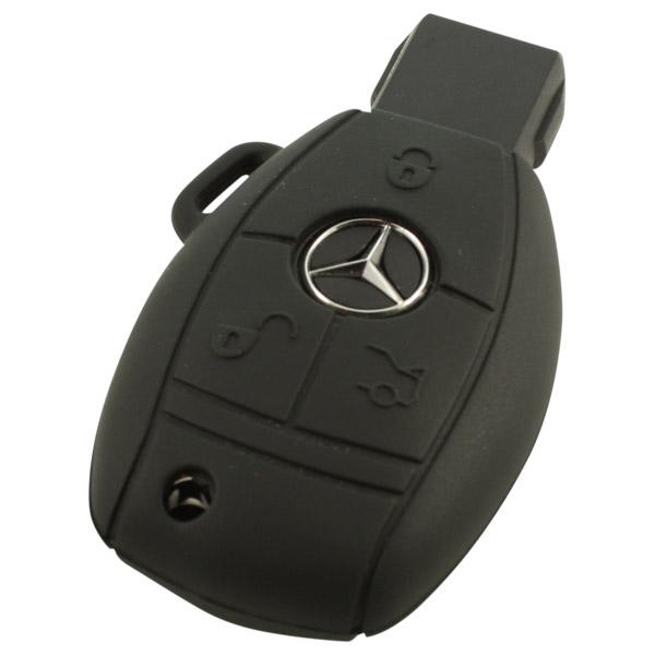 Mercedes 3-knops smart key zwart