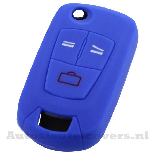 Opel 3-knops klapsleutel sleutelcover Opel blauw