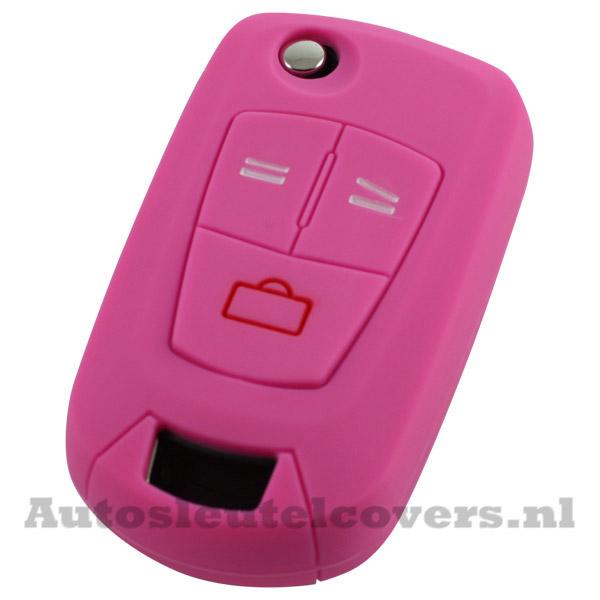 Opel 3-knops klapsleutel sleutelcover roze