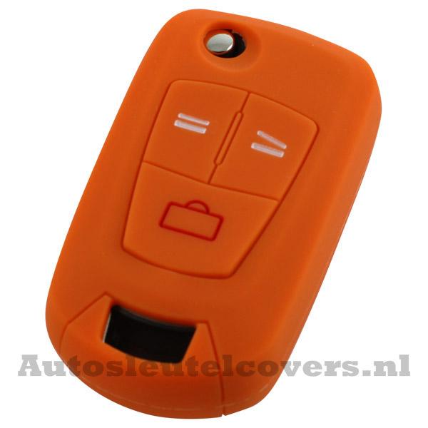 Opel 3-knops klapsleutel sleutelcover oranje