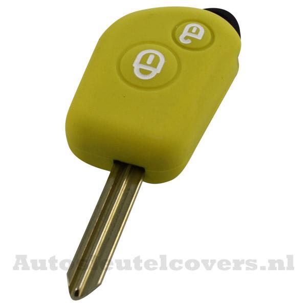 Peugeot en Citroën 2-knop sleutelbehuizing geel