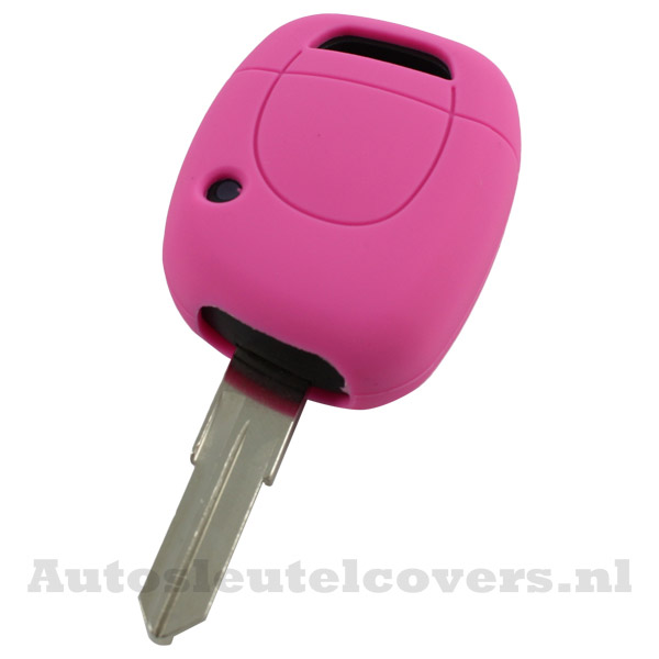 Renault sleutelbehuizing 1 knop sleutelcover roze