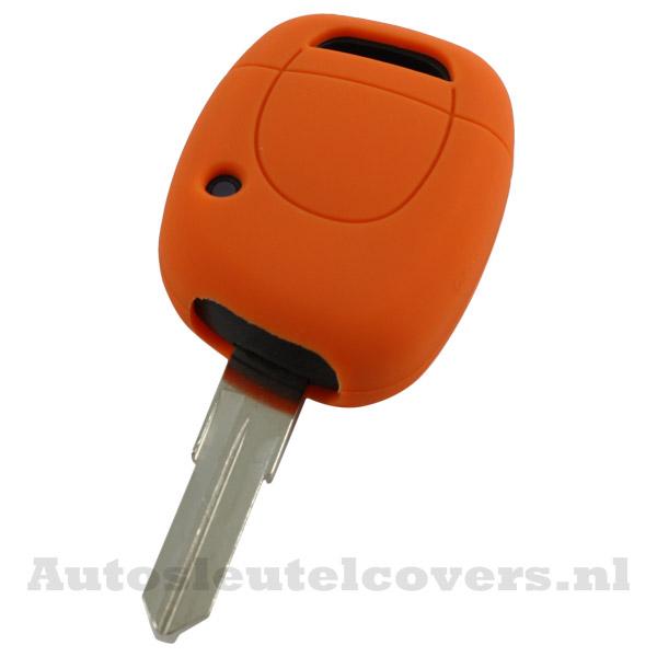 Renault sleutelbehuizing 1 knop sleutelcover oranje