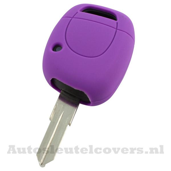 Renault sleutelbehuizing 1 knop sleutelcover paars