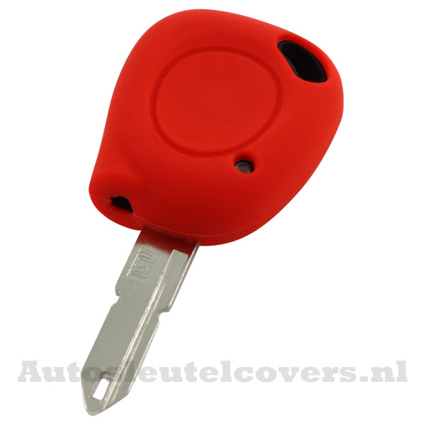 Renault sleutelbehuizing 1 knop IR led sleutelcover rood