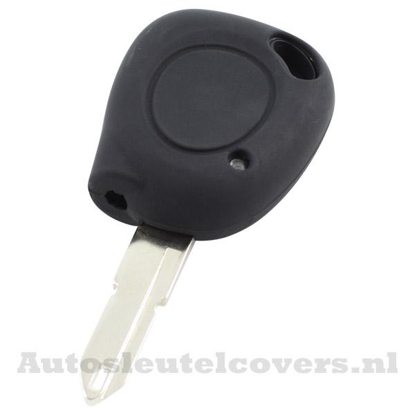 Renault sleutelbehuizing 1 knop IR led sleutelcover zwart