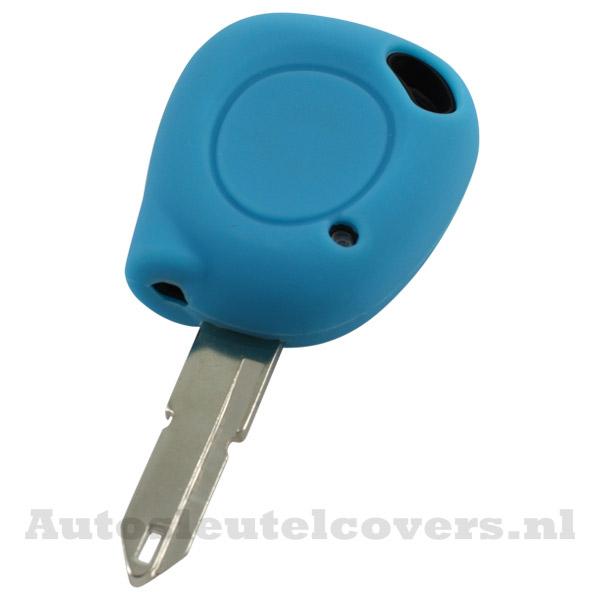 Renault sleutelbehuizing 1 knop IR led sleutelcover lichtblauw