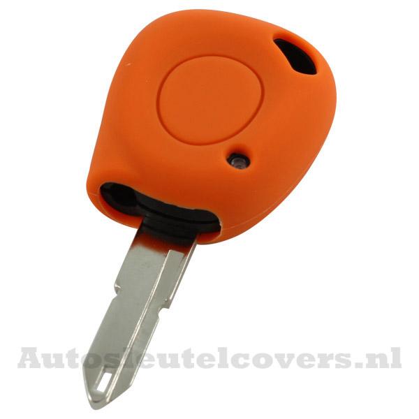 Renault sleutelbehuizing 1 knop IR led sleutelcover oranje