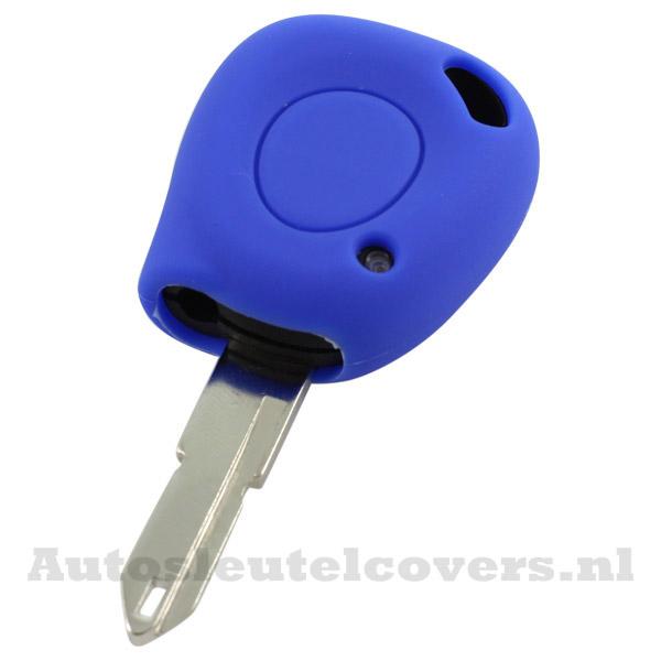 Renault sleutelbehuizing 1 knop IR led sleutelcover blauw