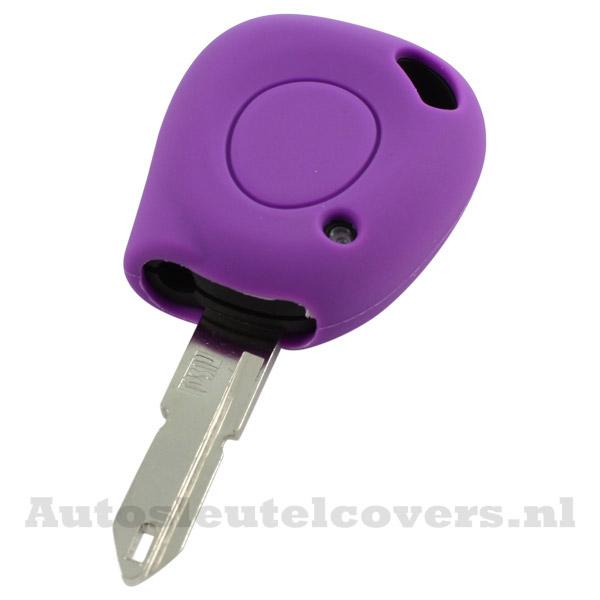 Renault sleutelbehuizing 1 knop IR led sleutelcover paars