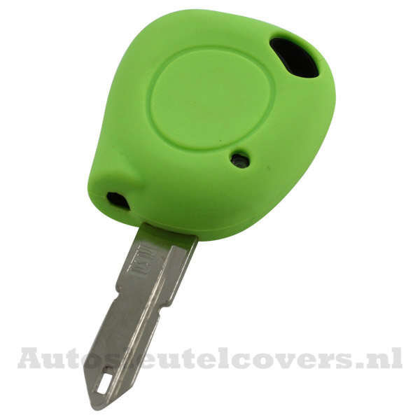 Renault sleutelbehuizing 1 knop IR led sleutelcover groen