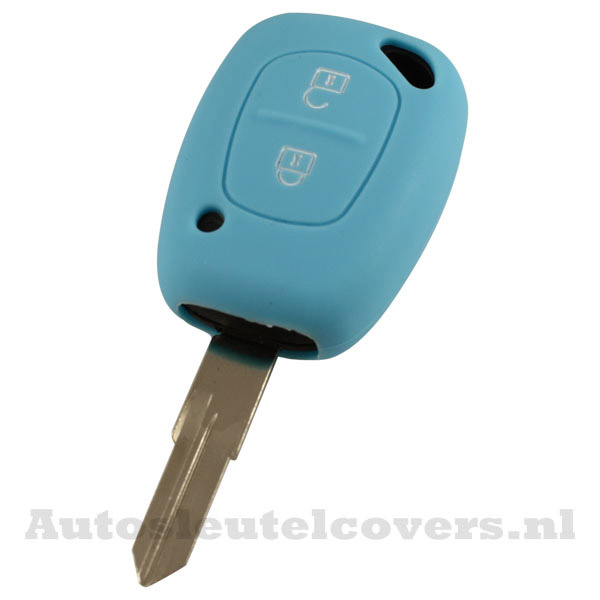 Renault 2-knops sleutelcover lichtblauw