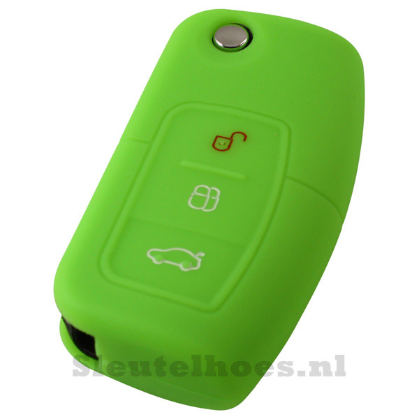 Ford 3-knops klapsleutel sleutelcover – groen (model 2)-