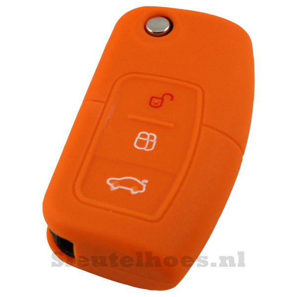 Ford 3-knops klapsleutel sleutelcover – oranje (model 2)