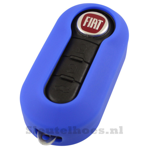 Fiat 3-knops klapsleutel sleutelcover – donkerblauw