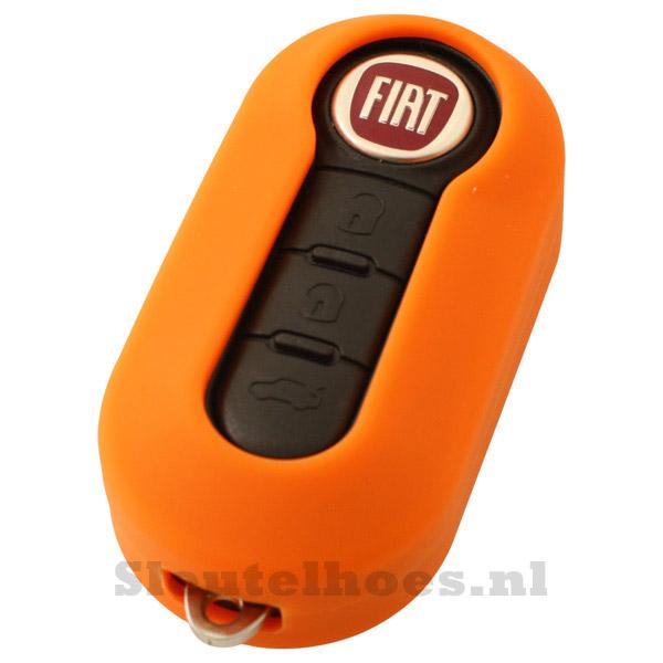 Fiat 3-knops klapsleutel sleutelcover – oranje