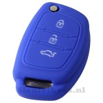 Hyundai 3-knops klapsleutel sleutelcover – donkerblauw