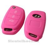 Hyundai 3-knops klapsleutel sleutelcover – roze