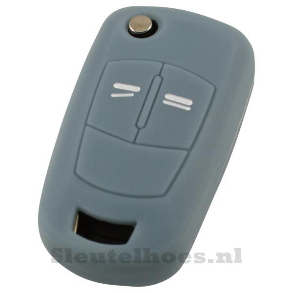 Opel 2-knops klapsleutel sleutelcover – grijs