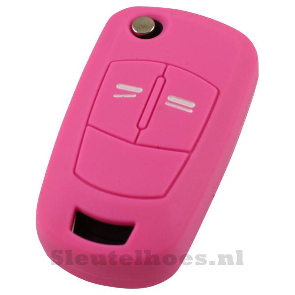 Opel 2-knops klapsleutel sleutelcover – roze