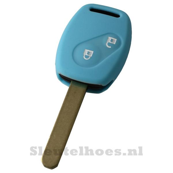 Honda - 2 knop sleutelbehuizing lichtblauw