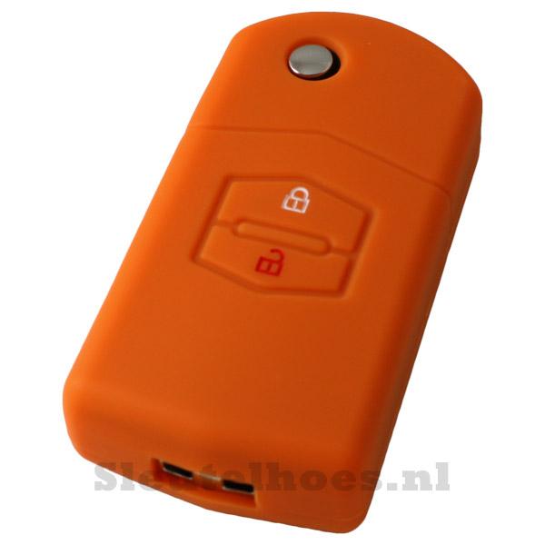 Mazda - 2 knop sleutelbehuizing oranje