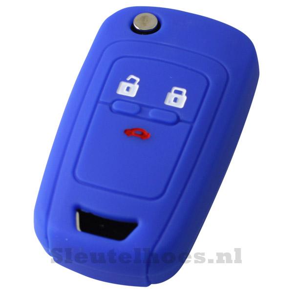 Chevrolet 3-knops klapsleutel sleutelhoes - donkerblauw