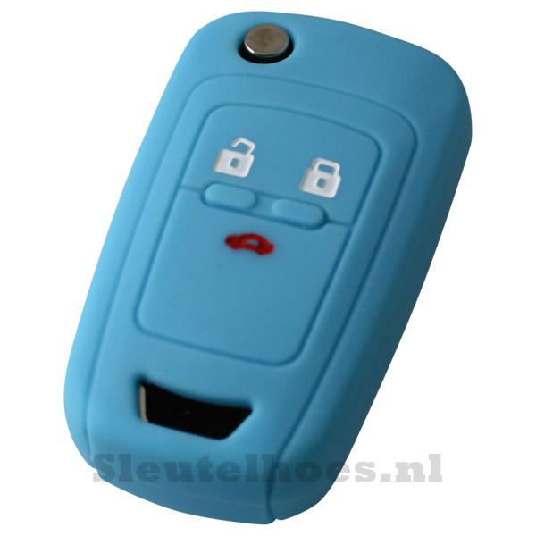 Chevrolet 3-knops klapsleutel sleutelhoes - lichtblauw