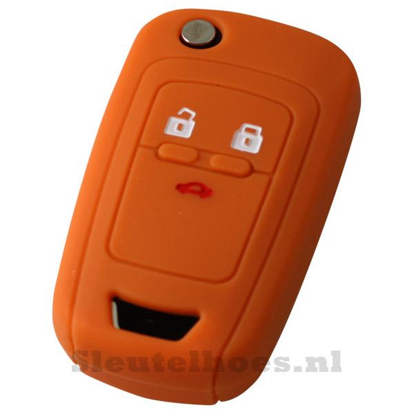 Chevrolet 3-knops klapsleutel sleutelhoes - oranje