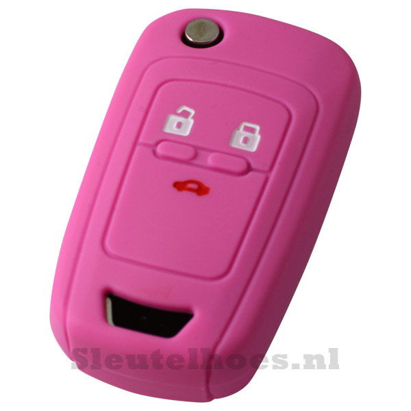 Chevrolet 3-knops klapsleutel sleutelhoes - roze
