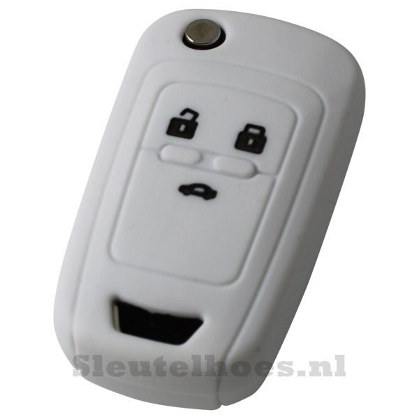 Chevrolet 3-knops klapsleutel sleutelhoes - wit